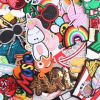 Clothes Random Patches 30pcs Pack Iron On Applique 3D Sticker DIY Embroidered