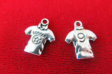 "BULK! 30pc ""soccer shirt"" charms in antique silver (BC245B)"