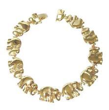 "18K Gold Plated Elephant Bracelet - 8""- Lifetime Warranty"