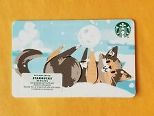 Starbucks 2020 Christmas Gift Card Kitten Playing With Snowball Reloadable Empty