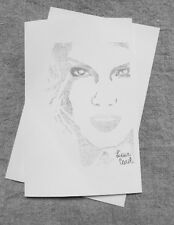 Taylor Swift Drawn From Her Christmas Must Be Something More Lyrics Music Card