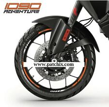KTM 1090 Adventure wheel stickers decals rim stripes Laminated