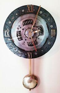 Custom Clutch Disc Man Cave Den Garage Shop Wall Clock