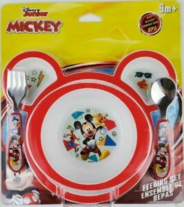 The First Years Disney Mickey Mouse clubhouse Feeding set Bowl Plate Fork Spoon