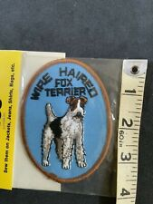 Wire Fox Terrier Embroidered Patch Nip