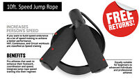 New Jump Rope Speed Skipping Fitness Adjustable Exercise Boxing MMA Gym 10ft.