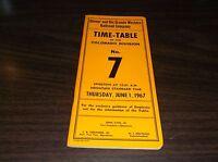 JUNE 1967 D&RGW DENVER & RIO GRANDE WESTERN COLORADO DIVISION EMPLOYEE TT #7