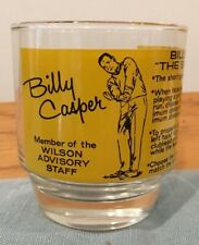 Billy Casper vintage drinking glass