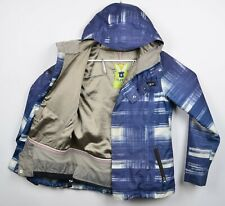 Burton DryRide Women's Sz Large Snowboard Ski Blue Plaid Winter Jacket DAMAGED