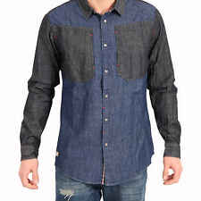 HUMÖR Men'S Shirt Long Sleeve BOYKO in Blue/Black Size S