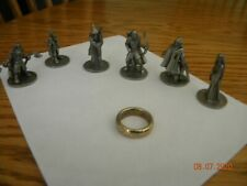 2003 Lord of the Rings Trilogy Edition Monopoly Game  TOKENS - Set of 6 & ring