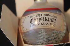 Hallmark Ornament 1991 Gift Bringers Christkindl Glass Ball Christmas Tree Snow