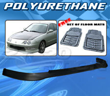 FOR ACURA INTEGRA 98-01 T-R STYLE FRONT BUMPER LIP POLYURETHANE + FLOOR MAT PAIR