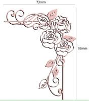 Stanzschablone Rose Liane Hochzeit Weihnachts Oster Geburtstag Karte Album DIY