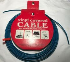 Vinyl Coated Wire Rope Cable, 40 ft, 920 lbs breaking strength