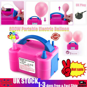 Portable 600W Electric Balloon Camping Pump Inflator Air High Power Blower Party