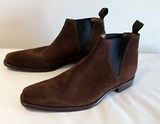 £280 mens boots LOAKE MASON Suede Ankle CHELSEA Brown  uk 7 eu 40 BIRTHDAY