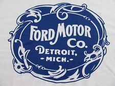 FORD MOTOR CO. Detroit Michigan Classic Antique Logo White SS T Shirt Size L