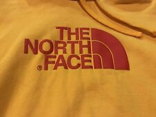 NORTH FACE hoodie - Men's L | YELLOW large Red Logo Sweatshirt PULLOVER