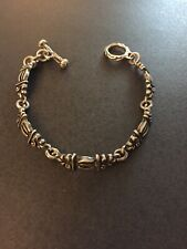 925 Link Heavy Bracelet Vintage Native American Sterling Silver