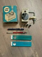 Eagle 17 Turquoise Lead Sharpener and Leads & Faber Castell Pencil & Eraser