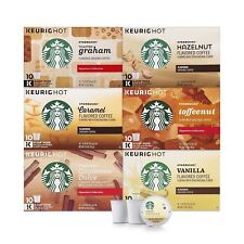 Starbucks Flavored Coffee Variety Keurig Brewers 6 boxes 60 KCup pods SHORT DATE