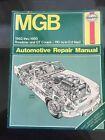 Haynes MGB 1962 - 1980 Roadster & GT Coup Auto Repair manual