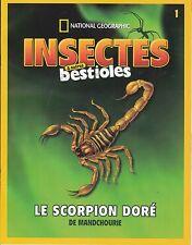 LE SCORPION DORE -  FASCICULE BOOKLET INSECTES ET BESTIOLES N° 1