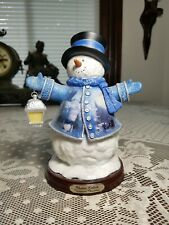 "Thomas Kinkade ""Victorian Christmas Snowman"" First Issue Winter Wonderland 2004"