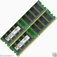 2GB =2x1GB DDR 400 MHz PC3200 PC3200U Non-ECC Desktop PC DIMM Memory RAM 184-pin