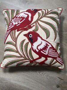 Pillow Red Bird Embrordery Canvas 15 x 15 Decrative Pillow Target