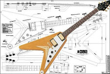 Gibson Flying V Korina Electric Guitar Full-Scale Plan
