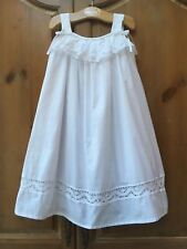 Bella Luna Strasburg Lined White Beach Portrait Lace Ruffle Party Dress 5Y 5 6