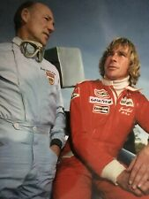 STIRLING MOSS / JAMES HUNT - FORMULA 1 LEGENDS - EXCELLENT UNSIGNED COLOUR PHOTO