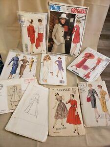Lot of Vintage Sewing 9 Patterns Vogue. Paris Original Ginvenchy