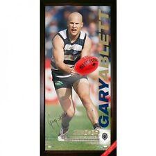 GEELONG CATS GARY ABLETT 2009 AFL BROWNLOW MEDALLIST BALLISTIC HAND SIGNED PRINT