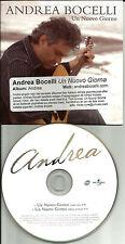 ANDREA BOCELLI Un Nuovo Giorno w/ RARE EDIT CARD ITALY made PROMO DJ CD single