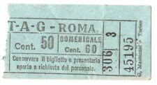 ANTICO BIGLIETTO AUTOBUS E TRAM 1940 ca. - ATAG - ROMA - Centesimi 50 VERDE - 3