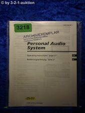 Sony Bedienungsanleitung ZS D1 Mini Disc System (#3218)