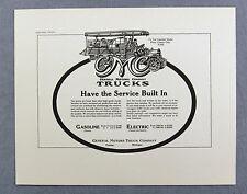 Vintage 1970's General Motors 1918 GMC Truck Advertisement Print