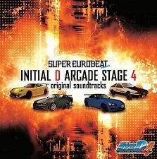 New 0822-3 INITIAL D Super Eurobeat Arcade Stage 4 Original Soundtrack Music CD
