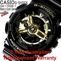 CASIO G-SHOCK MEN WATCH GA-110GB-1A FREE EXPRESS BLACK/GOLD GA-110GB-1ADR JP MD