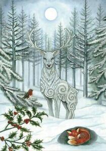 Yule Christmas Pagan greetings card Winter  - Pagan - Wicca  - By E. Remmington