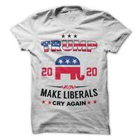 Donald Trump President T-Shirt CNN Make America Great Again Liberals Cry Again