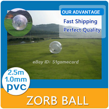 Human Hamster Ball 2.5M Inflatable Zorb Ball Zorbing Bubble Bumper 1.0MM PVC