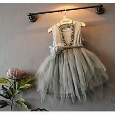 Girl Princess Flower Dress Kid Baby Party Wedding Pageant Formal Dresses Clothes