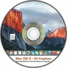 Bootable Mac OS X El Capitan Installation DVD MacBook Pro, Air, iMac, Mac Mini