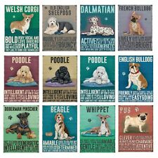 Metal Wall Sign Dogs Cockapoo Staffy Border Collie French Bulldog Gift Present