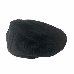 Polo Ralph Lauren Newsboy Cap Gray Wool Blend Twill Mens Large - XL Newsie Hat