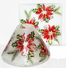 New Yankee Candle 2016 POINSETTIA JAR SHADE & TRAY Set Holiday Flower Sold Out